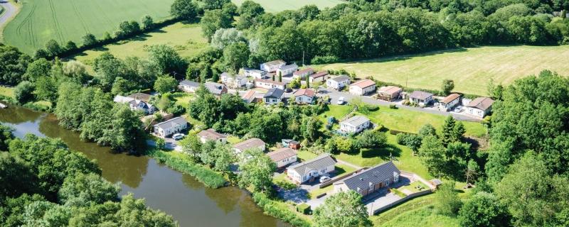 Meadow Home Park - aerial shot
