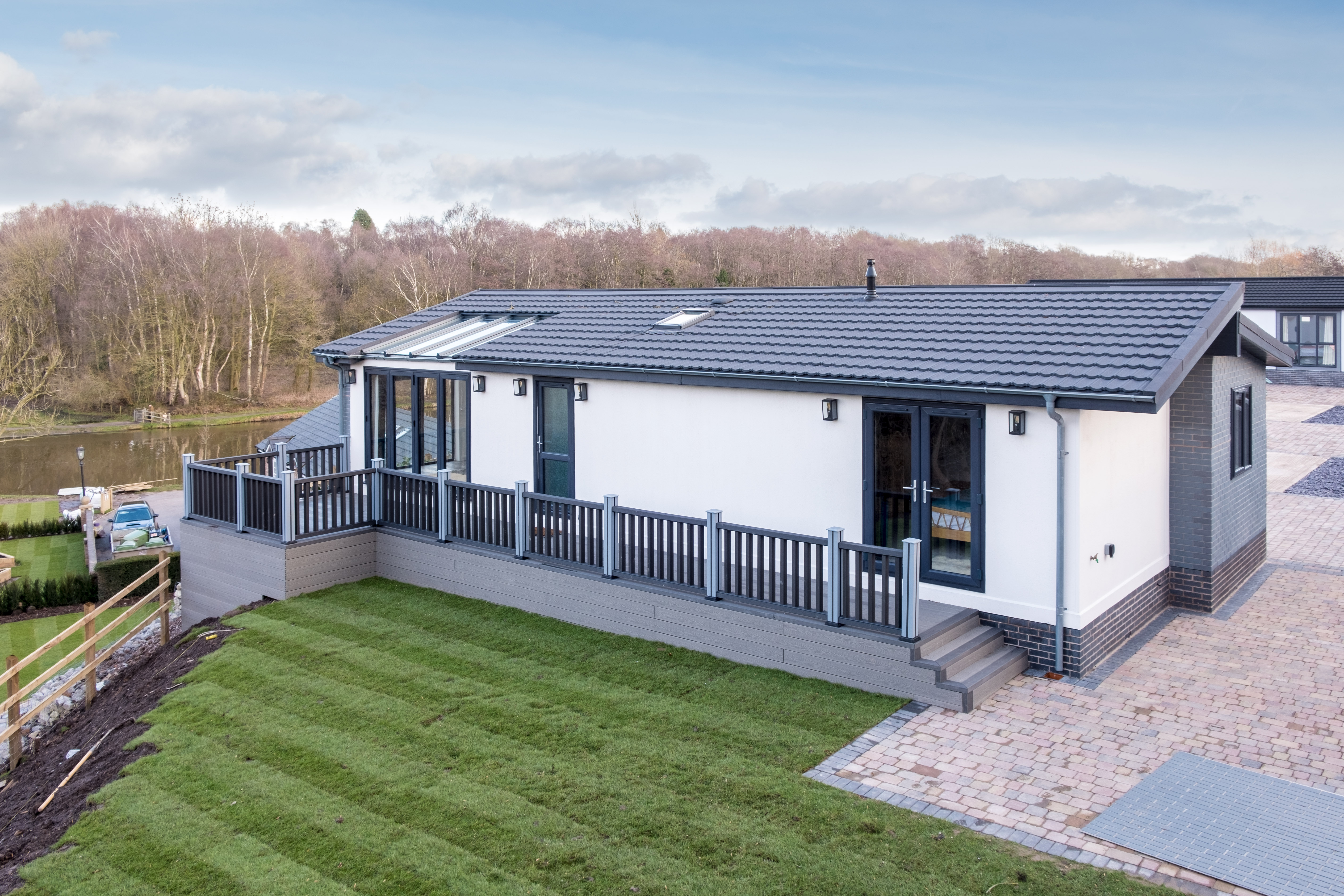 The Pathfinder Evolution Park Home at Riverside Park in Cheshire