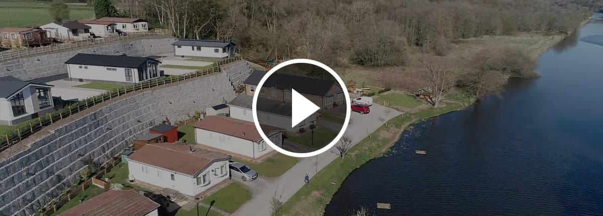 Riverside drone footage video banner.